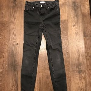 Madewell High Riser Skinny Jeans, Size 28